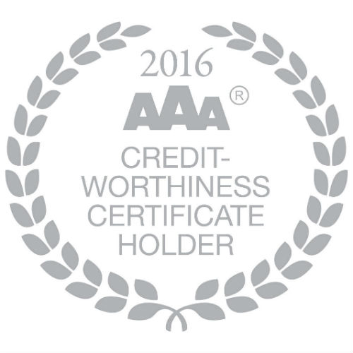 aaa credit worthiness certificate holder 2016